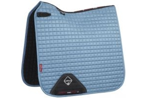 LeMieux ProSport Suede Dressage Square Saddle Pad Ice Blue