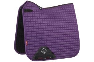 LeMieux ProSport Suede Dressage Square Saddle Pad Blackcurrant