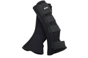 ROMA NEOPRENE LEG WRAPS BLACK COB-FULL