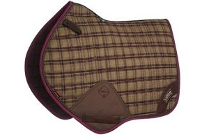 LeMieux Unisex's Heritage Close Contact Square Saddlepad, Plum, Small/Medium