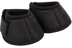 Roma Pony/Horse Deluxe Non-Twist Bell Boots - Black: Warmblood