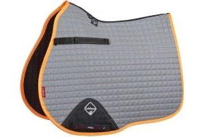 LeMieux Hi-Vis GP Square Saddle Pad Tangerine