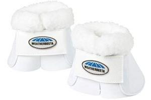 Weatherbeeta Fleece Trim Impact Bell Boots White Warmblood