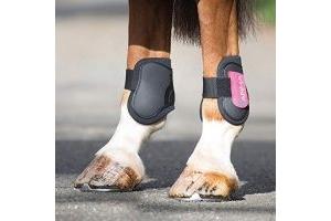Shires ARMA Fetlock Boots Pony/Cob Black/Pink