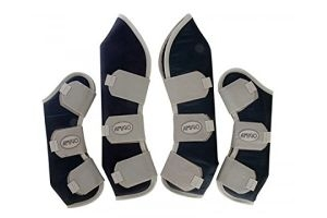 Horseware Amigo Travel Boots Full Navy/Silver