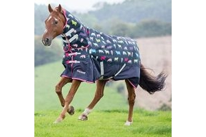 Shires Highlander 200g Combo Horse Turnout Rug, in Cow Print 78, Cowprt