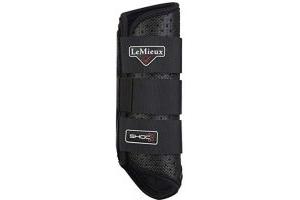 LeMieux Stealth Shoc XC Boots (Hind) - Black, Large