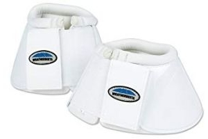 Weatherbeeta Impact Bell Boots (Full) (White)