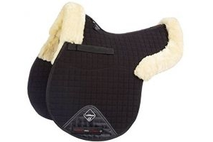 LeMieux Lambskin GP/Jumping Half Lined Numnah - Natural Wool/Black Fabric, Medium