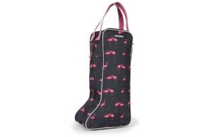 Shires Long Boot Bag Flamingo