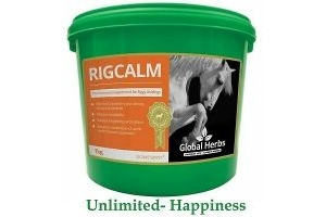 Global Herbs RigCalm 1KG -Rig Calm Supplement for Horses - Free Shipping