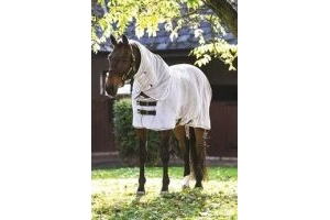 Rambo Horseware Dry Rug - Microfibre Towelling-Grey with Silver & Black M (6'0