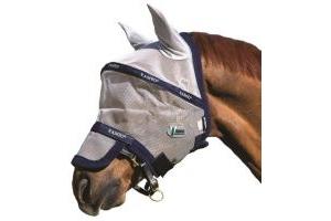 Horseware Rambo Fly Mask Plus Vamoose Full Silver/Navy