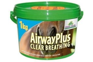 Global Herbs Airway Plus 1kg Tub Clear Breathing Horses