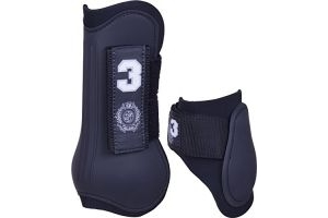 HV Polo Favouritas Tendon and Fetlock Boot Set - Black: Cob
