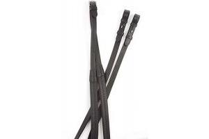 Kincade Rubber Reins Black 54 inch