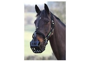 Shires Greenguard Muzzle - Black: Pony