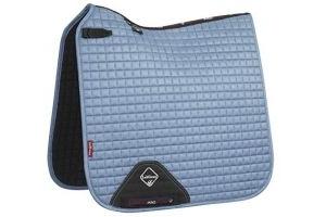 LeMieux Unisex's ProSport Suede Dressage Square Saddle Pad, Ice Blue, Small/Medium