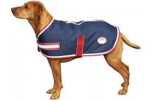 WeatherBeeta Parka 1200D Dog Rug Navy/Red/White