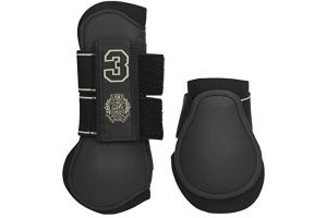 HV Polo Favouritas Tendon and Fetlock Boot Set - Black: Full