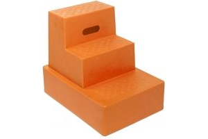 Classic Showjumps Standard 3 Step Mounting Block Orange