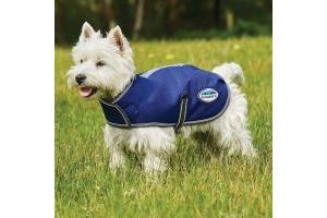 WeatherBeeta ComFiTec Premier Free Parka 220g Medium Weight Dog Coat Dark Blue/Grey/White