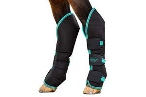 Horseware Amigo Travel Boots Full Black/Teal/Dark Cherry