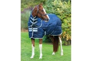 Horseware Amigo Insulator Plus 200g Medium Weight Detach-A-Neck Stable Rug Navy/Silver