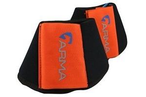 Shires ARMA Neoprene Over Reach Boots-Orange Cob