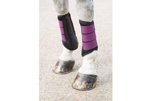 Shires Arma Air Motion Brushing Boots in Plum Colour, Horse Boots EXTRA Fulll, Plum
