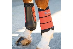 Shires Arma Neoprene Brushing Boots Burnt Orange Cob