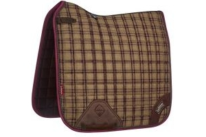 LeMieux Unisex's Heritage Dressage Square Saddlepad, Plum, Small/Medium