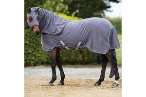 Horseware Rambo Show Sheet Rug Set Grey/Raspberry-X Small