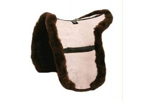 LeMieux Lambskin Showing Numnah - Brown, 15-inch