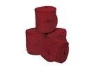 WeatherBeeta Fleece Bandage - Maroon - 3.5m (Pack of 4)
