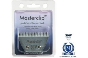 Masterclip Royale Clipper Blades available in medium fine and superfine cut fits Liveryman Harmony Avalon Moser Oster Andis (30W Superfine cut wide body blade 0.5mm)