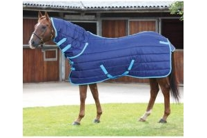 Shires Tempest 300g Heavyweight Combo Stable Rug Navy/Blue