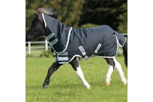 Horseware Amigo Hero 6 Petite Plus Medium Turnout Rug - Navy/Silver: 3ft0