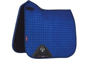 LeMieux ProSport Suede Dressage Square (D-ring)- Benetton Blue, Large