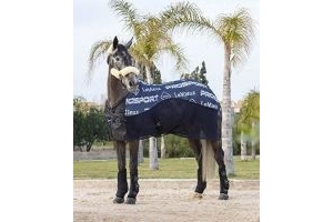 LeMieux Carbon Horse Cooler Rug - Navy Blue: 6ft3