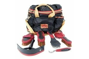 Horseware Rambo Newmarket Grooming Kit Whitney Stripe Gold