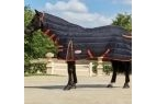 Weatherbeeta Comfitec PP Channel Quilt Combo Neck (Heavy) - Black/Orange - 5 foot 6 inch