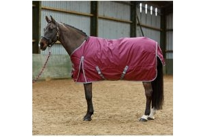 Whitaker Brad 100g Lite Weight Standard Neck Turnout Rug Wine