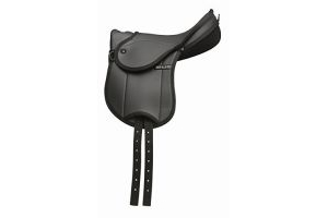 HI-LITE BAMBINO CHILDS FIRST SADDLE HORSE EQUESTRIAN RIDING TACK [BLACK] [12] by Shires