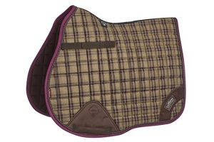LeMieux Unisex's Heritage GP Square Saddlepad, Plum, Large