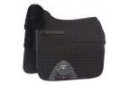 LeMieux Lambskin Pro-Sorb System Half Lined Dressage Square - Black Wool/Black Fabric - Large