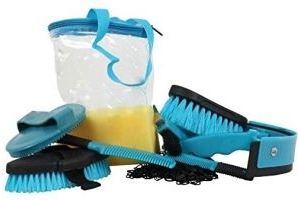 Roma 9 Piece Cylinder Grooming Kit (One Size) (Teal)