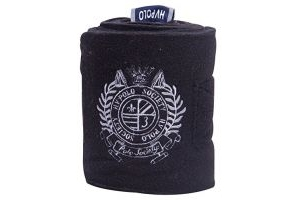 HV Polo Favouritas Fleece Pony/Horse Bandages: Black