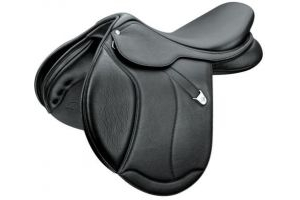 Bates Close Contact Jumping Saddle Pad Caprilli + Luxe Black 17.5