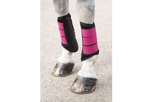 Shires Arma Air Motion Brushing Boots in Raspberry Colour, Horse Boots EXTRA Fulll, Raspberry